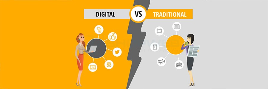 How Digital Marketing Is Different From Traditional Marketing | Shopweb